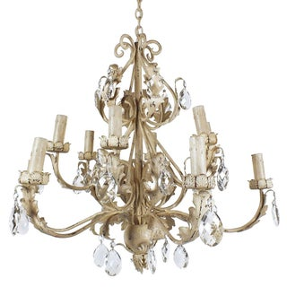 1960s Louis XV-Style Twelve-Arm Chandelier