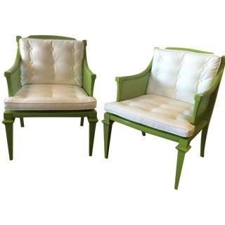 Hollywood Regency Tufted Chairs - A Pair
