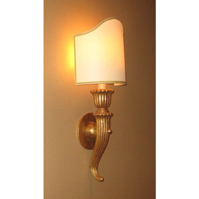 Italian Hand Carved Wood Sconce - Image 4 of 4
