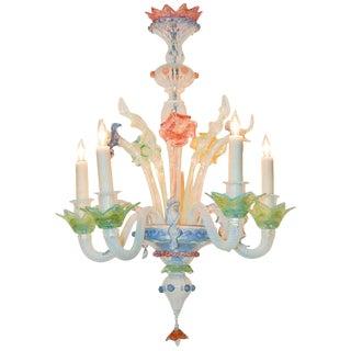 Antique Multi-color Venetian Chandelier