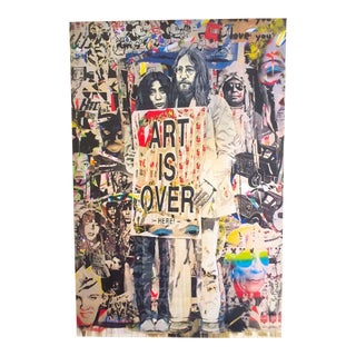 "Mr. Brainwash Original Lithograph Print Poster ""John & Yoko Art Is Over Here"""