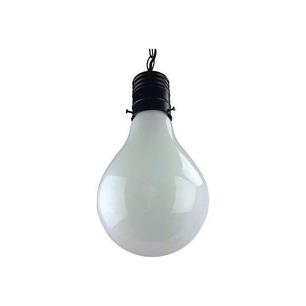 Image of 1970s Pop Art Giant Lightbulb Pendant Light