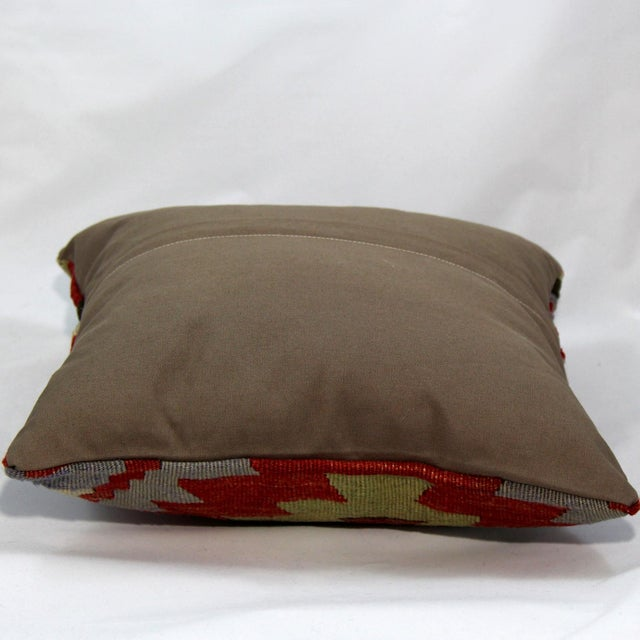 Turkish Handmade Kilim Pillow Cover - Image 4 of 5