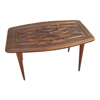 Tramp Style Frisian Woodcarving Side Table