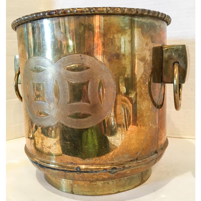 Vintage Brass Chinoiserie Ice Bucket - Image 5 of 7