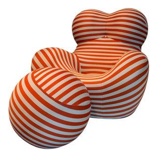 Gaetano Pesce for B & B Italia Up5_ 6 (Aka Big Momma) Chair & Ottoman, 1969