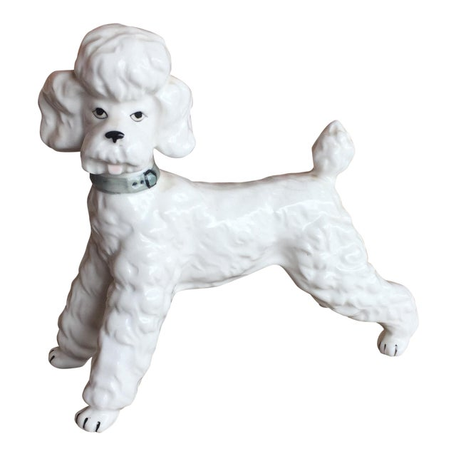 Vintage Ceramic Staffordshire Style Poodle Dog Figurine - Image 1 of 11