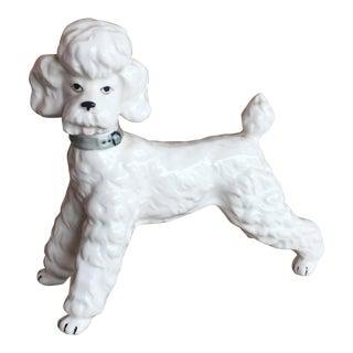 Vintage Ceramic Staffordshire Style Poodle Figurine