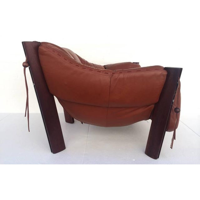 Jacaranda Rosewood & Leather Lounge Chair by Percival Lafer - Image 4 of 10