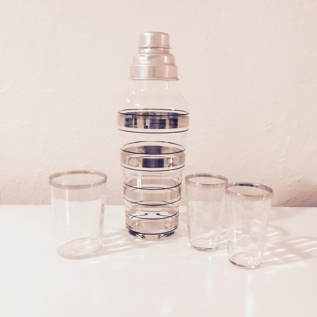 1950s Silver Striped Shaker Set - Image 2 of 10