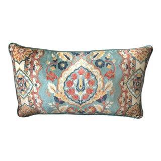 Envogue Multicolor Print Velvet Decorative Rectangle Pillow