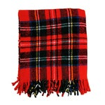 Image of Vintage Plaid Picnic Blanket