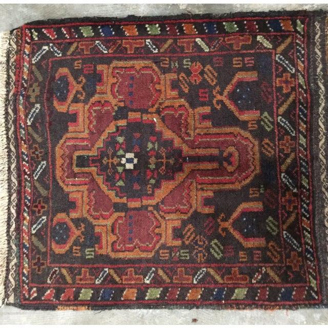 Vintage Balluchi Persian Rug - 1'8 x 1'11 - Image 3 of 10