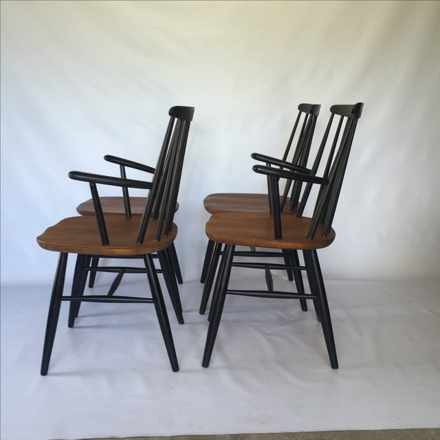 Tapiovaara-Style Dining Chairs - Set of 4 - Image 3 of 6