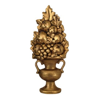 Gilded Gold Ceramic Topiary Wall Art