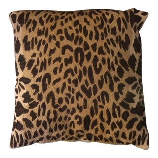 Vintage Leopard Embroidered Pillow