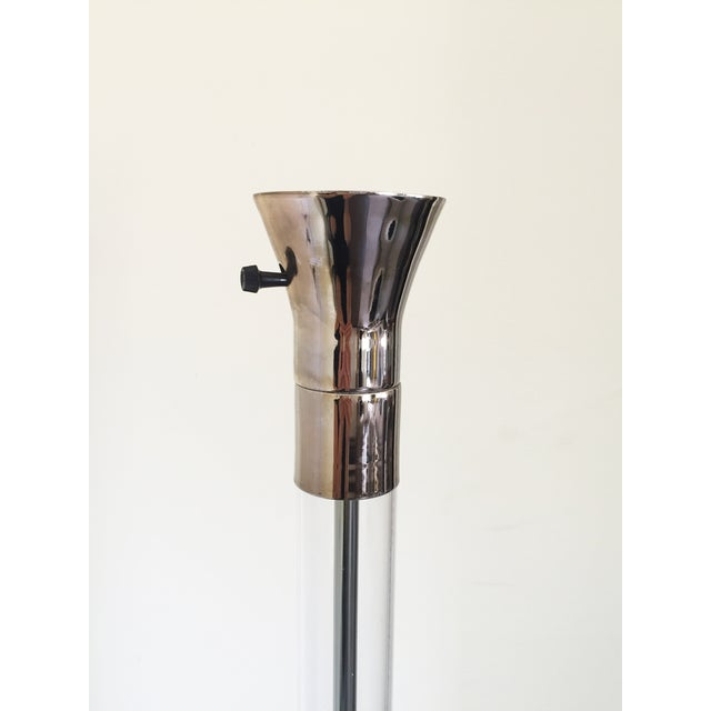 Image of Brass Chrome Acrylic Floor Lamp