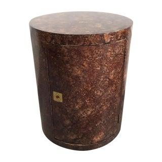 Art Deco Rolling Barrel Side Table