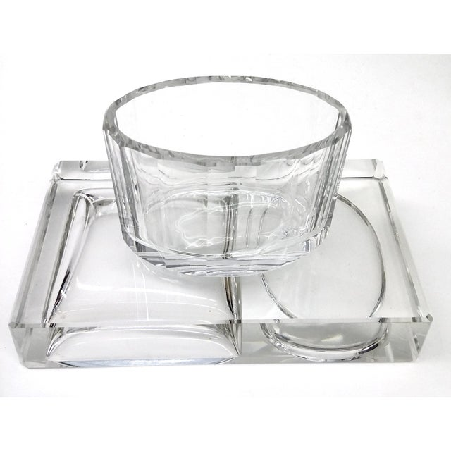 Crystal Art Deco Cigarette Ashtray - 2 Pieces - Image 9 of 11