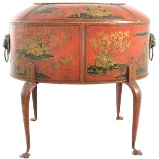 Large Chinoiserie Decorated Tole Cachepot