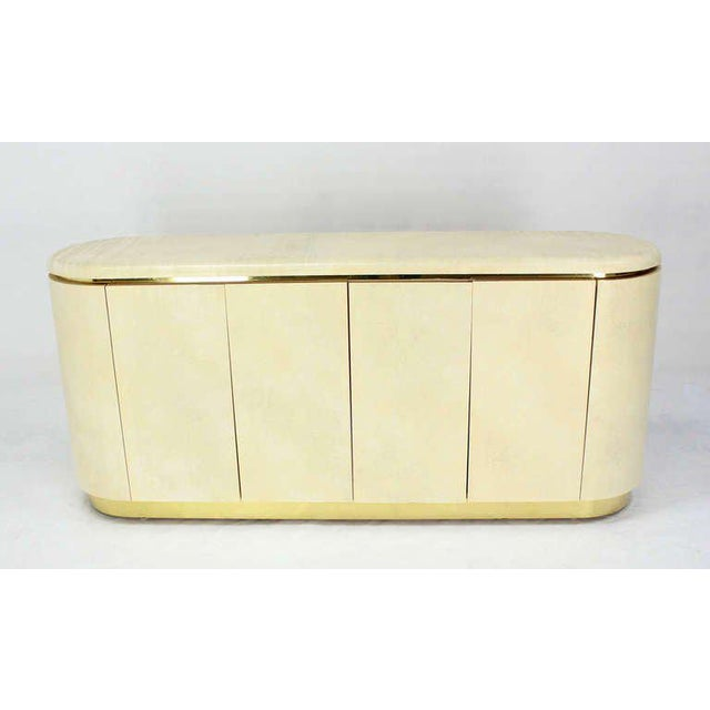 Mid-Century Modern, Drum Shape Long Credenza Server in the Springer Style - Image 2 of 7