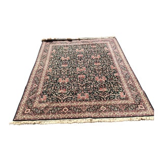 "Hand-knotted Kashan Area Rug - 10'4"" x 7'11"""