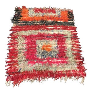 "Vintage Turkish Handwoven Kilim Rug - 4'2"" x 4'10"""