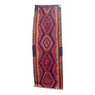 Rare Handmade Pink Persian Kilim Rug - 3'10'' X 9'7