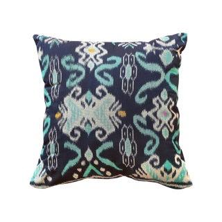 """Handwoven Balinese Indigo """"Karma Tosca"""" Pillow"""