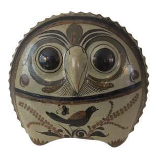 Vintage Tonala Pottery Owl by Jorge Wilmont