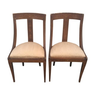 Traditional Gilt Wood Chairs - A Pair
