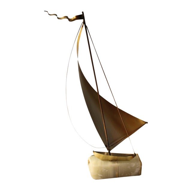 DeMott Mid-Century Brutalist Brass Sculpture - Image 1 of 5