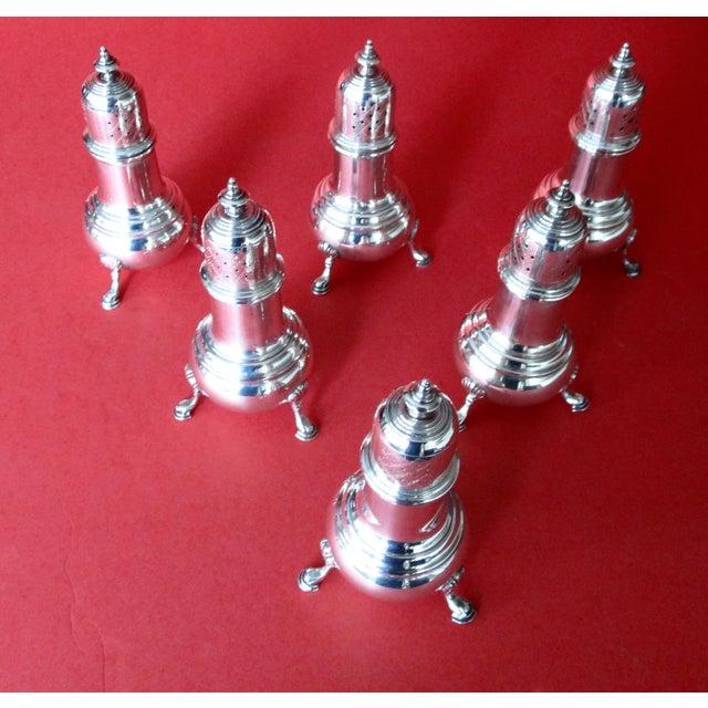 Antique Sterling Salt & Pepper Shakers - Set of 6 - Image 3 of 9