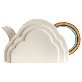 Vintage Japanese Cloud and Rainbow Teapot