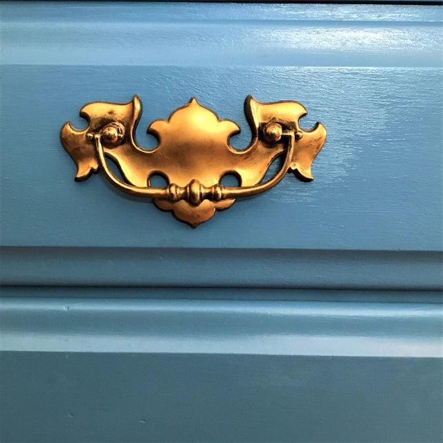 Custom Hand-Painted Blue Wardrobe - Image 6 of 7