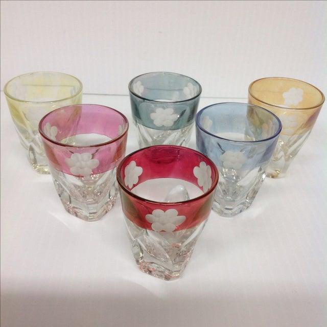 Italian Cut Glass Liquor Set - 7 Pieces - Image 5 of 5