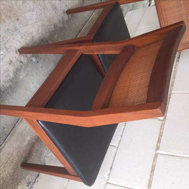 Mid-Century Walnut Dining Chairs - Set of 4 - Image 6 of 7