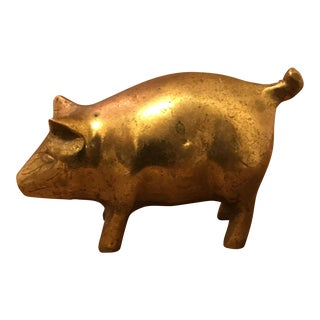 Brass Pig Paperweight