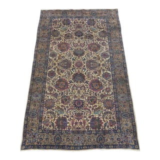 Hunting Design Antique Persian Kerman Rug - 3′11″ × 6′11″