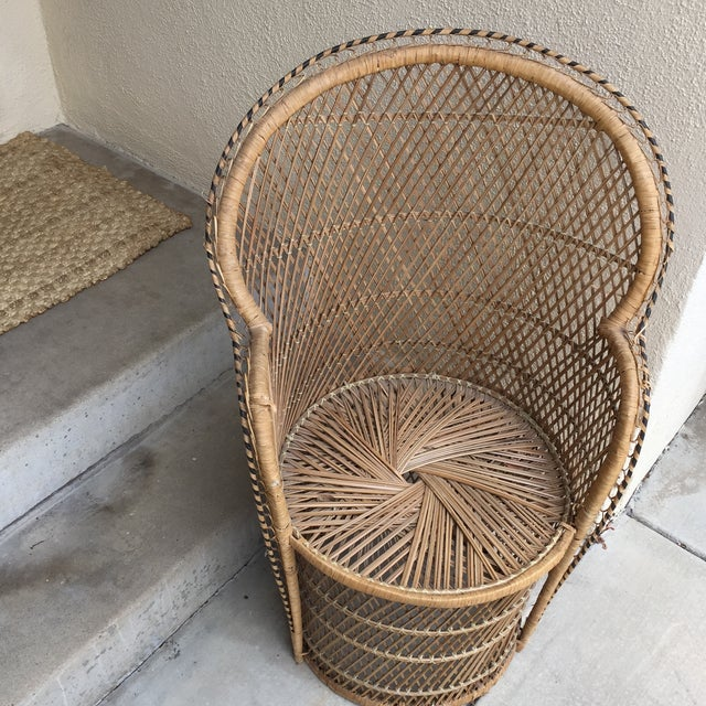 Vintage Boho Chic Wicker Chair - Image 3 of 10