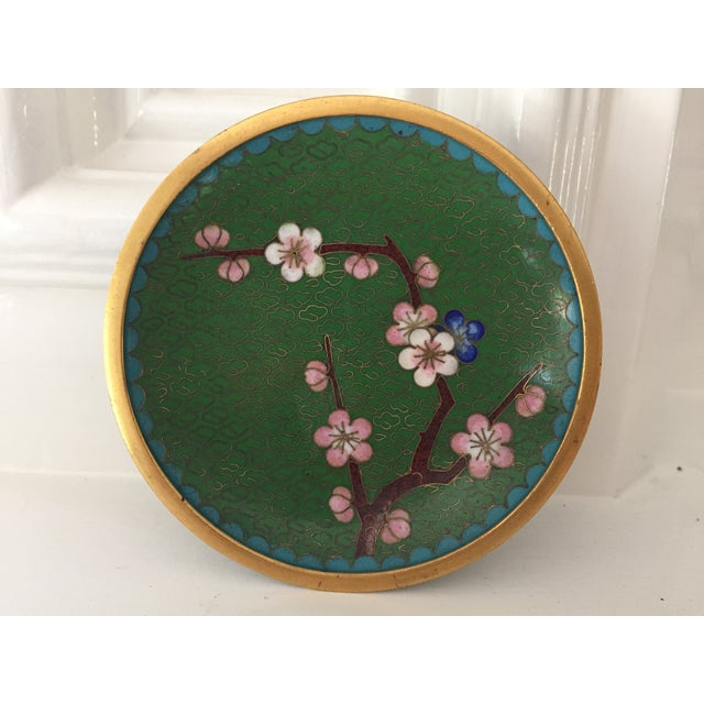 Small Green Cloisonne Dish - Image 2 of 6