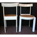 Image of Midcentury Italian White Lacquered Chairs - A Pair