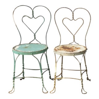 1950s Ice Cream Parlor Chairs - Pair