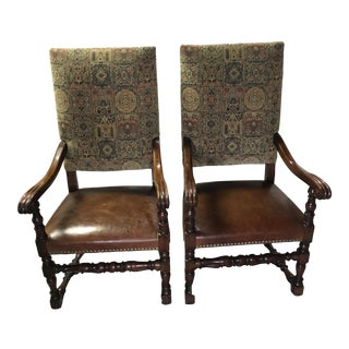 French Baroque Armchairs - A Pair