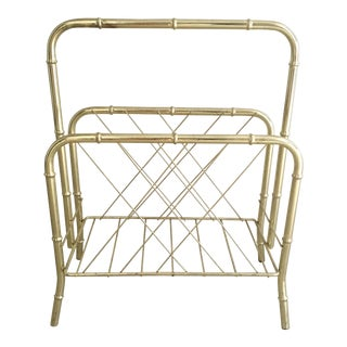 Gold Bamboo Magazine Rack
