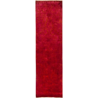 """Vibrance Over Dyed Hand Knotted Runner - 4'2"""" X 10'4"""""""
