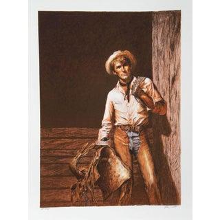 """John Duillo, """"The Cowboy,"""" Lithograph"""