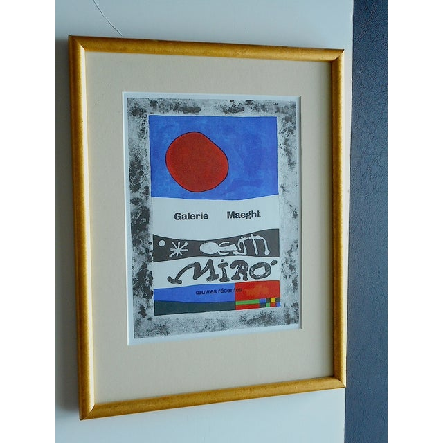 Joan Miro Lithograph Framed - Image 3 of 4