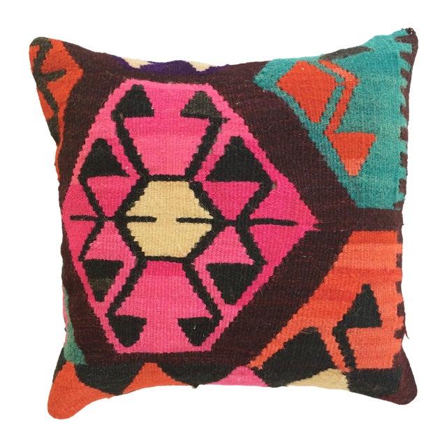 Flax Turkish Kilim Pillow - Image 1 of 3