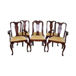 Colony Hall Solid Cherry Queen Anne Style Dining Chairs - Set of 6